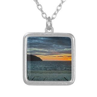 New Zealand Abel Tasman Sunset Silver Plated Necklace