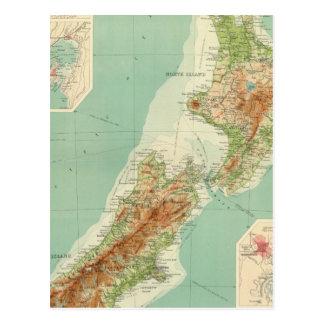 New Zealand Atlas Map Postcards