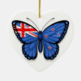 New Zealand Butterfly Flag Ceramic Ornament