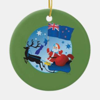 new zealand christmas ceramic ornament