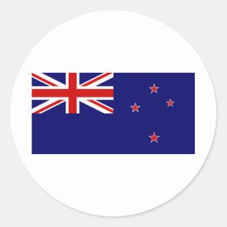 New  Zealand Classic Round Sticker