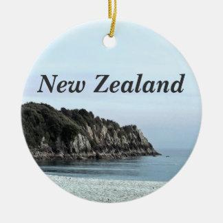 New Zealand Coast Ceramic Ornament