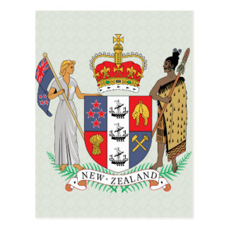 New Zealand Coat of Arms detail Postcard