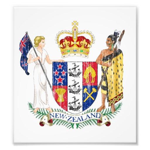New Zealand Coat Of Arms Art Photo
