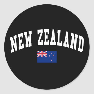 New Zealand College Style Round Stickers