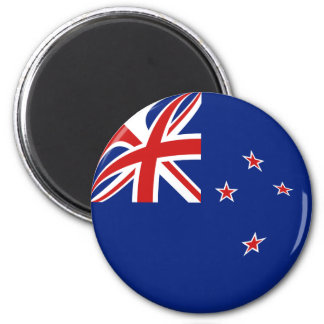 New Zealand Fisheye Flag Magnet