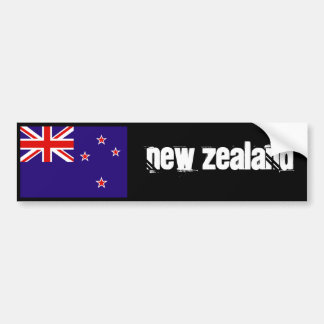 New Zealand flag bumper 2 Bumper Sticker