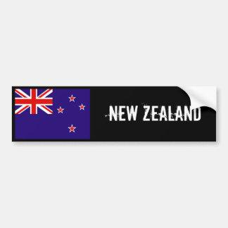 New Zealand flag bumper sticker 2