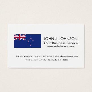 New Zealand Flag Business Card
