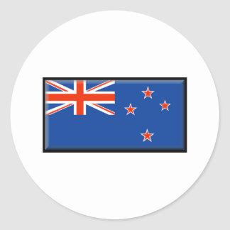 New Zealand Flag Classic Round Sticker