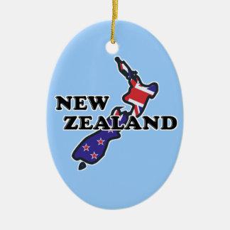 New Zealand Flag Kiwi Ornament