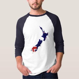 New Zealand Flag Map Shirt