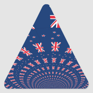 New Zealand flag.png Triangle Sticker