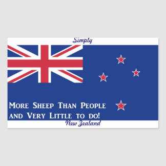 New Zealand Flag Rectangular Sticker