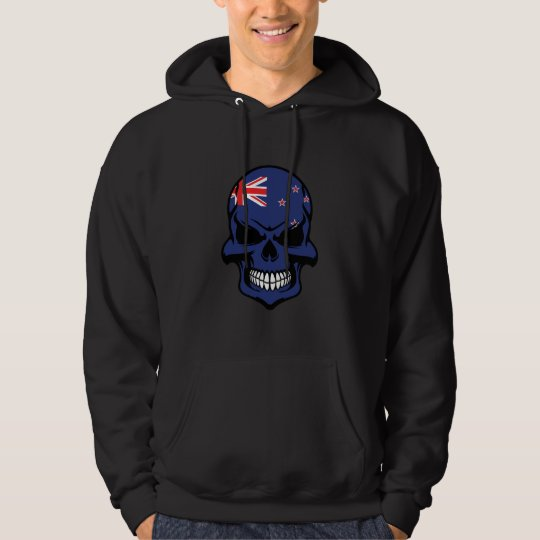 New Zealand Flag Skull Hoodie