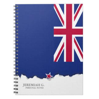 New Zealand Flag Spiral Note Book