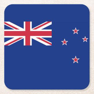 New Zealand Flag Square Paper Coaster