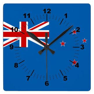 New Zealand flag Square Wall Clock