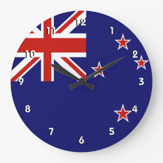 New Zealand flag wall clock with numbers