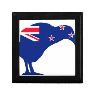 New Zealand Flag With Kiwi SIlhouette Gift Box