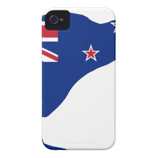 New Zealand Flag With Kiwi SIlhouette iPhone 4 Case