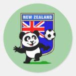 New Zealand Football Panda Round Sticker