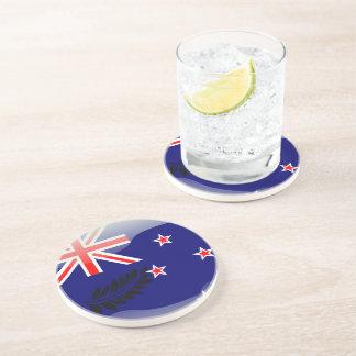New Zealand glossy flag Coaster