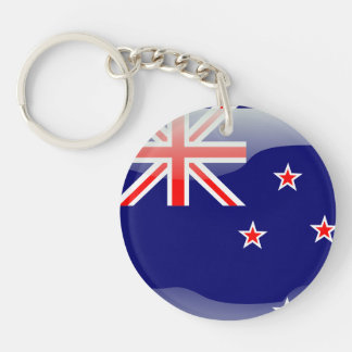 New Zealand glossy flag Key Ring