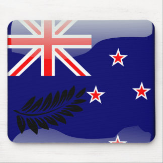 New Zealand glossy flag Mouse Pad