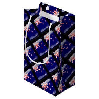 New Zealand glossy flag Small Gift Bag