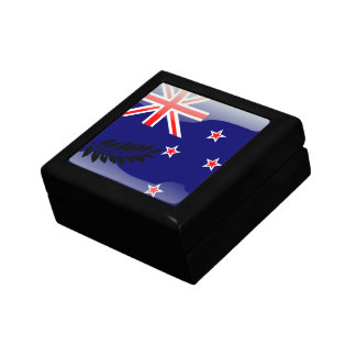 New Zealand glossy flag Small Square Gift Box