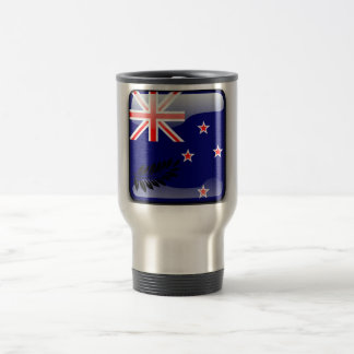 New Zealand glossy flag Travel Mug