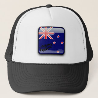 New Zealand glossy flag Trucker Hat