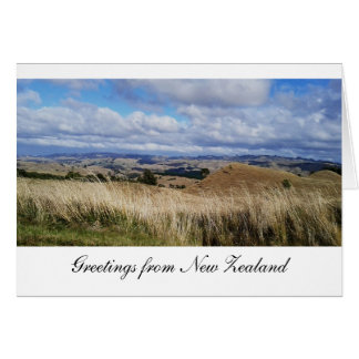 New Zealand Greeting: North Island Central Plateau Card