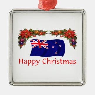 New Zealand Happy Christmas Metal Ornament