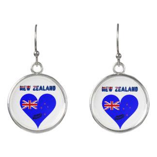 New Zealand heart flag Earrings