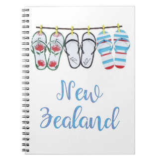 New Zealand Journal Spiral Notebook
