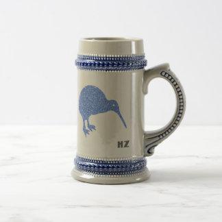 New Zealand Kiwi Beer Stein Mug