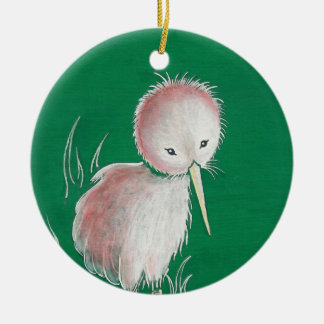 New Zealand Kiwi Bird Ceramic Ornament