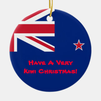 New Zealand Kiwi Christmas Ornament