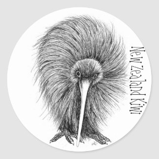 New Zealand Kiwi Classic Round Sticker