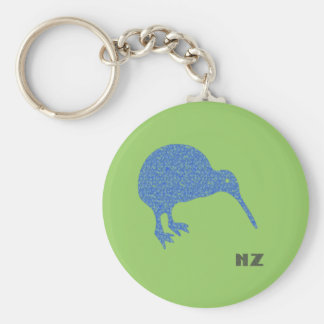 New Zealand Kiwi Keychain