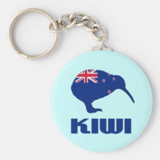 New Zealand Kiwi Keychain Flag