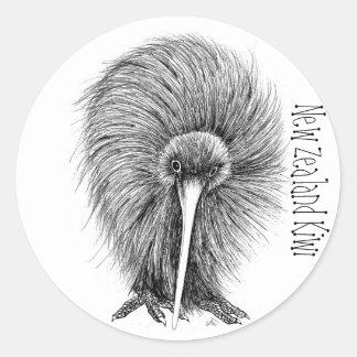 New Zealand Kiwi Round Sticker