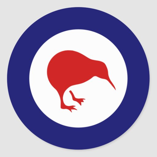 new zealand kiwi roundel military aviation sticker