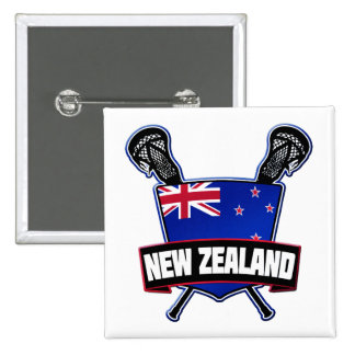 New Zealand Lacrosse Button