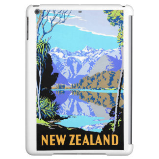 New Zealand Lake Matheson Vintage Travel Poster iPad Air Cover