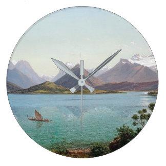 New Zealand Lake Wakatipu Mountains Wall Clock