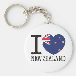 New Zealand Love v2 Key Ring