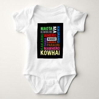 NEW ZEALAND MAORI COLOURS SUBWAY ART BABY BODYSUIT